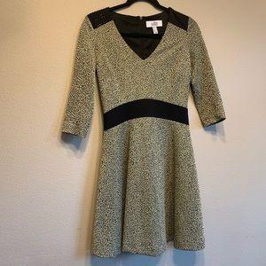 BELLE BY Badgley Mischka studded textured dress